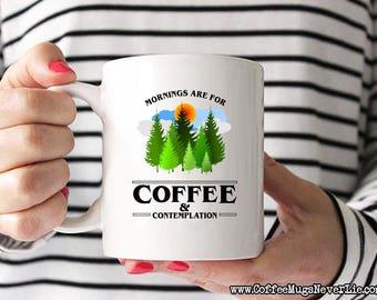 ON SALE! Stranger Things Coffee Mug | Mornings Are for Coffee and Contemplation | Stranger Things Gift | Hopper | Coffee Mugs Never Lie