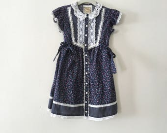 Rare Gunne Sax Toddler Prairie Dress - Size 4 t