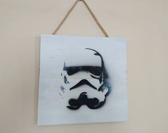 Stormtrooper airbrush effect wall hanging plaque