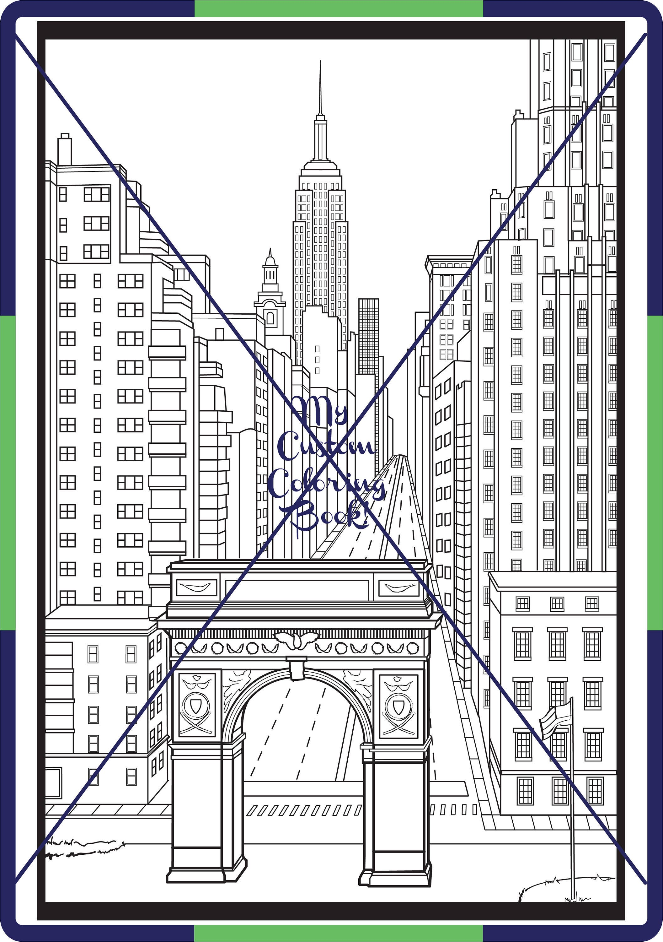 nyc coloring pages - photo#23