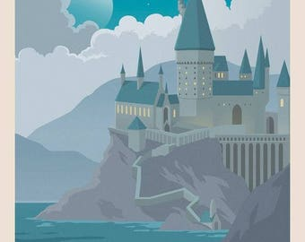 Harry Potter Hogwarts School of Witchcraft and Wizadry Art Poster Print A4