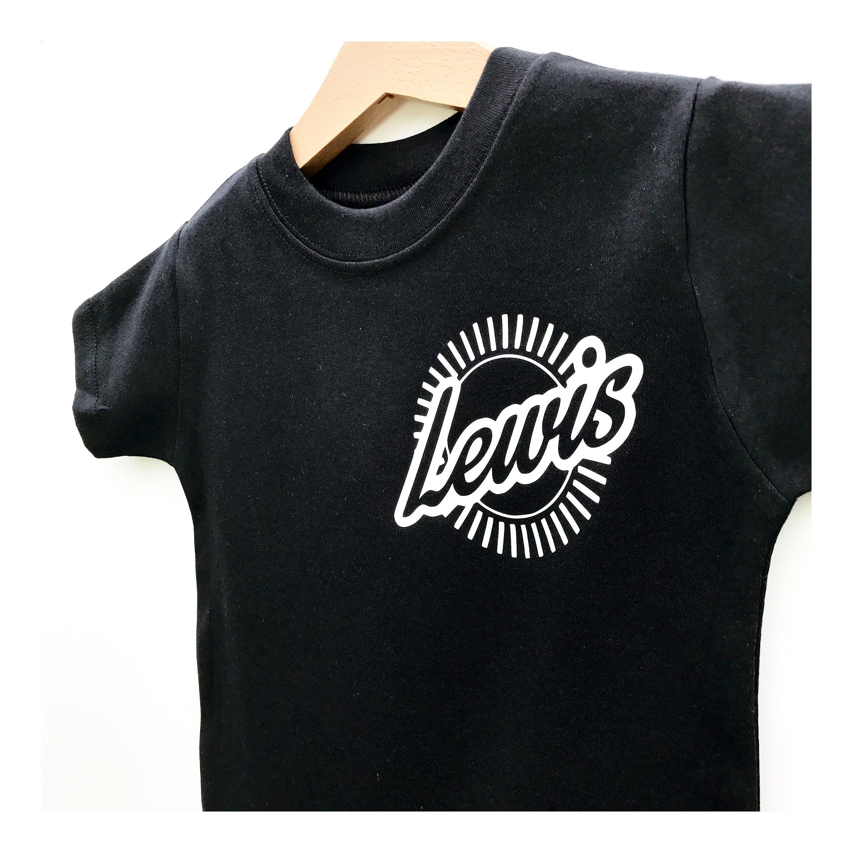 Kids Name Pocket Print T Shirt Custom Kids Tshirt Kids Name Shirt