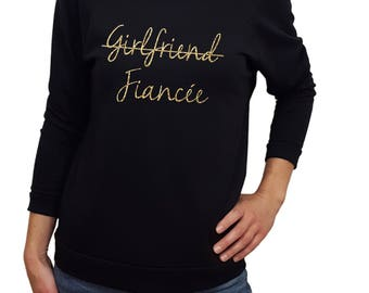 Girlfriend Fiancee, engaged shirt, engaged gift, fiancee shirt, fiancee gift, girlfriend to fiance shirt, engagement proposal, engaged party