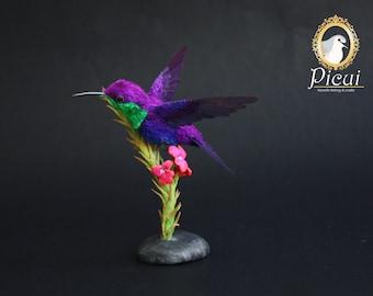 Made to Order - OOAK Artist Doll - Needle felted Hummingbird