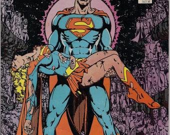 DC Comics, DEATH of SUPERGIRL, Crisis on Infinite Earth #7,1985, Key Issue,Kara Zor-El, Marv Wolfman,George Pérez,