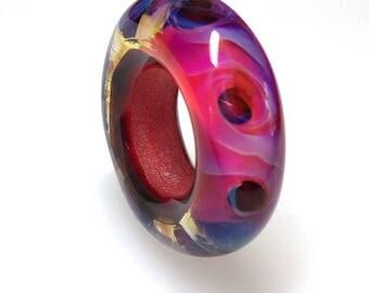 Handmade Glass Bead/Lampwork Glass Bead/Fuchsia Glass Bead