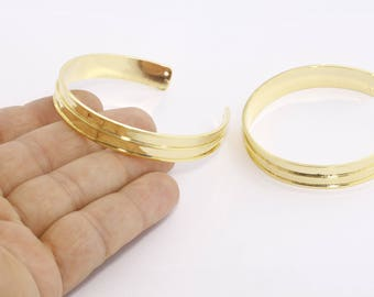 10mm 24k Shiny Gold Bangle, Open Cuff Bangle, Cuff Bracelet Bangle, Channel Bracelet, Open Cuff, Wide Open Cuff , CHK111-2