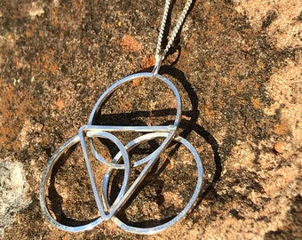 Second Motion Star Tetrahedron Recycled Sterling silver necklace. Handmade. SACRED GEOMETRY