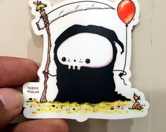 Lil' Reaper Sticker - The Short-Lived Balloon