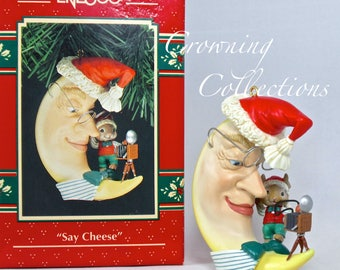 Enesco Say Cheese Mouse Camera Treasury of Christmas Ornament Mice Fifth in Series Vintage Photographer Final in Series 5th NIB