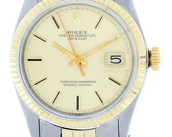 Rolex Oyster Perpetual Datejust 14K YG & SS 1601