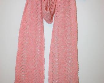 FEARNE Ladies  Long Boho Skinny Lace Scarf in Scottish Shetland Pure Wool