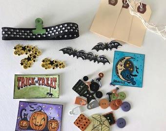 Halloween Mixed Media Embellishment Kit