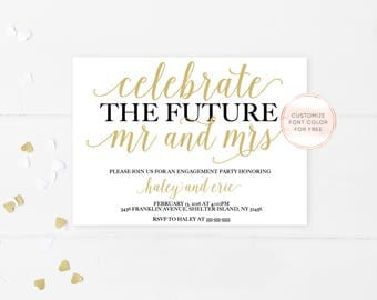 Engagement Party Invitation, Engagement Invites, Engagement Party Decorations, Printable Invitations, Engagement Invitations, Engaged [357]