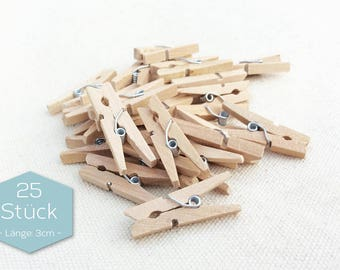 Wooden Clamps Nature 3 cm