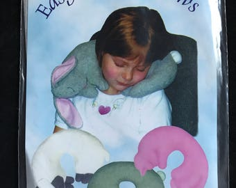 SewBaby Child's Easy Travel Pillow in Lamb, Bunny, or Cat Shape