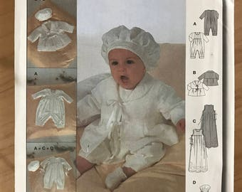 Burda 9944 - Baby's Christening Coordinates with Jumper, Gown, Jacket, and Hat 1 3 6 9 12 Months