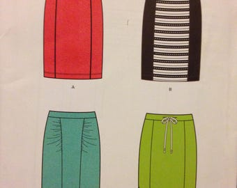 New Look 6228 Panel Front Skirt in Four Styles for Stretch Knits - Size 4 6 8 10 12 14 16