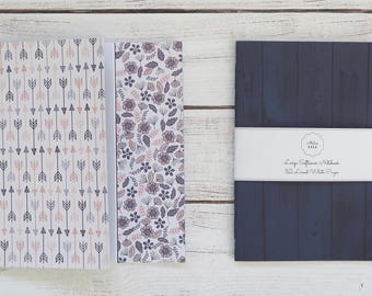 Indigo Softcover Notebook Hand Bound Travelers Notebook Writing Notebook Diary Lined Notebook 32 Lined White Pages *** Sold Individually ***