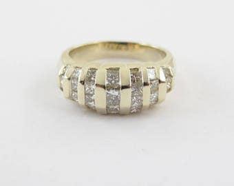 14k Yellow Gold Ladies Diamond Band Ring Size 6 1/4 1.25 carats
