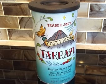 Handmade Bluetooth Speaker from a repurposed Trader Joe's Coffee Can