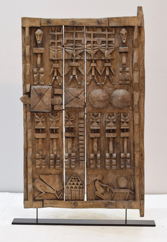 African Dogon Door Carved Wood Granary Door Dogoan Tribe Mali Dogon Granary Door