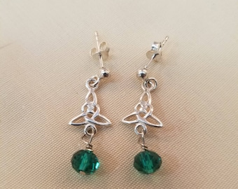 Sterling Silver Celtic Knot Earrings EE-152