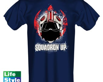 Squadron Up Mens T-shirt, Womens Tshirt, Rebel Shirt, Battlefront, Rogue One,Geeky Shirt, Star Wars, Cosplay, Comic Con, Fathers Day CT-1312