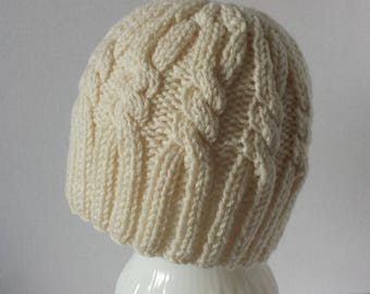 Aran Cabled Beanie - Size for an Adult