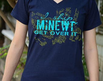 I ship MINEWT get over it t-shirt short sleeve