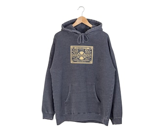 INDEPENDENT HOODIE // independent trucking company hooded sweatshirt / gray grey / skater pullover / skate / vintage / adult / large