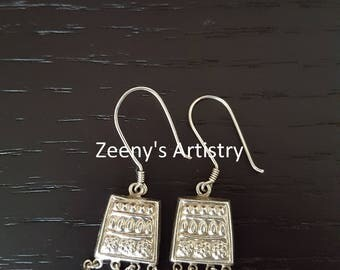 Earrings- Silver dangle FREE SHIPPING
