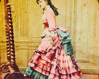 Stereo Card Berthe Legrand French Theater Actress 1800s Stereograph Card Stereogram Card Stereoscope Card Stereoview Card Stereo View Scarce