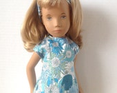 Sasha Doll Liberty of London Fabric 3 Piece Matching Outfit  Lined Shift Dress Headband Panties  Retro 60s  Small Susanna Sunflowers