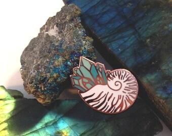 Crystal Nautilus - Hard Enamel Pin
