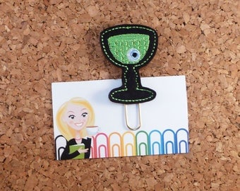 Halloween Planner Clip, Felt Paper Clip, Refrigerator Magnet, Cute Brooch Pin, Planner Accessories, Ribbon Bookmark, The Book Nook Patch 833