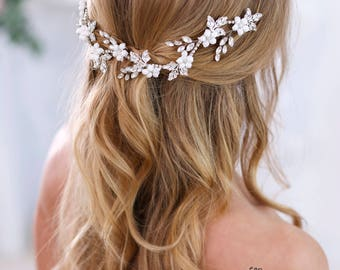 Crystal headband Bridal hair flowers Bridal Hair Jewelry Wedding Headband Wedding Headpiece Rhinestone headpiece Crystal Hair Accessories
