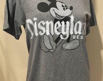 Mickey Mouse Tee-Disneyland Resort -Vintage Tee- Vintage Tshirt-Australia-Size Small-Size 10-Australia