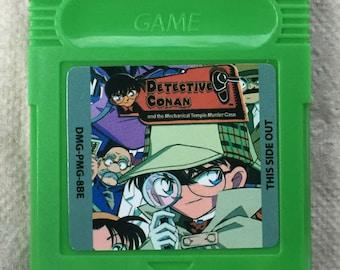 Detective Conan English Translated Fan Made Nintendo Game Boy Game. Saves!