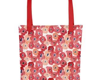 Red Floral Tote bag   Bag   Studio Carrie   Gift