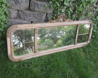 Antique mirror etsy for Long hanging mirror