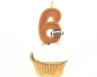 Football Birthday Number Candle