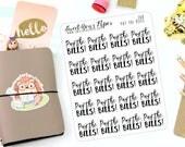 Bill Planner Stickers - Word Art Planner Stickers - Lettering Planner Stickers - Pay The Bills Planner Stickers - Fits Most Planners - 268