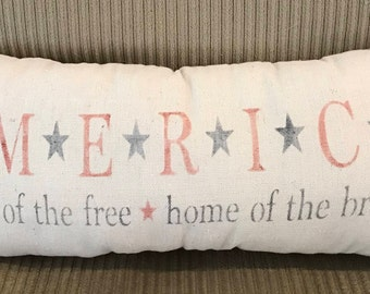 Americana Grain sack Pillow