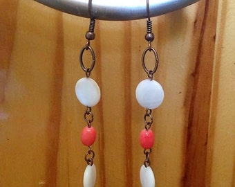Summery shell dangle earrings