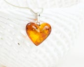 Handmade Baltic Amber Pendant Heart Shaped Amber Pendant  Amber Jewelry  Perfect Amber Gift  Women Pendant  Gift for Her  Gift for Him