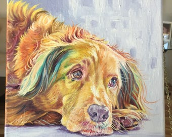 Custom dog painting, custom pet painting, pet gift, birthday gift, custom painting, animal art, custom pet portrait