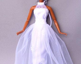 Barbie clothes, doll clothes, Barbie wedding dress