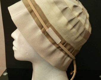 Summer hat/Summer cloche hat/Cotton summer hat/Women's summer hat/Beige hat/Camel hat