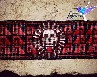 Mictlantecuhtli Bracelet-Mexican Handmade Bracelet- Underworld-Death-bracelet death beaded-Mexico-Place of the Dead-Aztecs